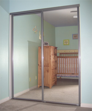 Awesome Sliding Mirror Doors Wide Stile Frame Construction Made To Be An Affordable  For The Home Buyer. Available Colors: Bright White, Brushed Nickel