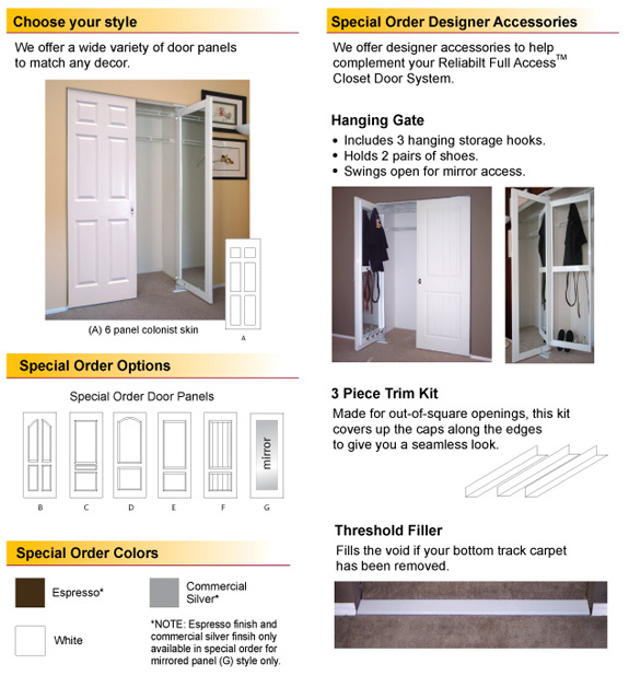 Exceptionnel Multiple Door Panel Options: